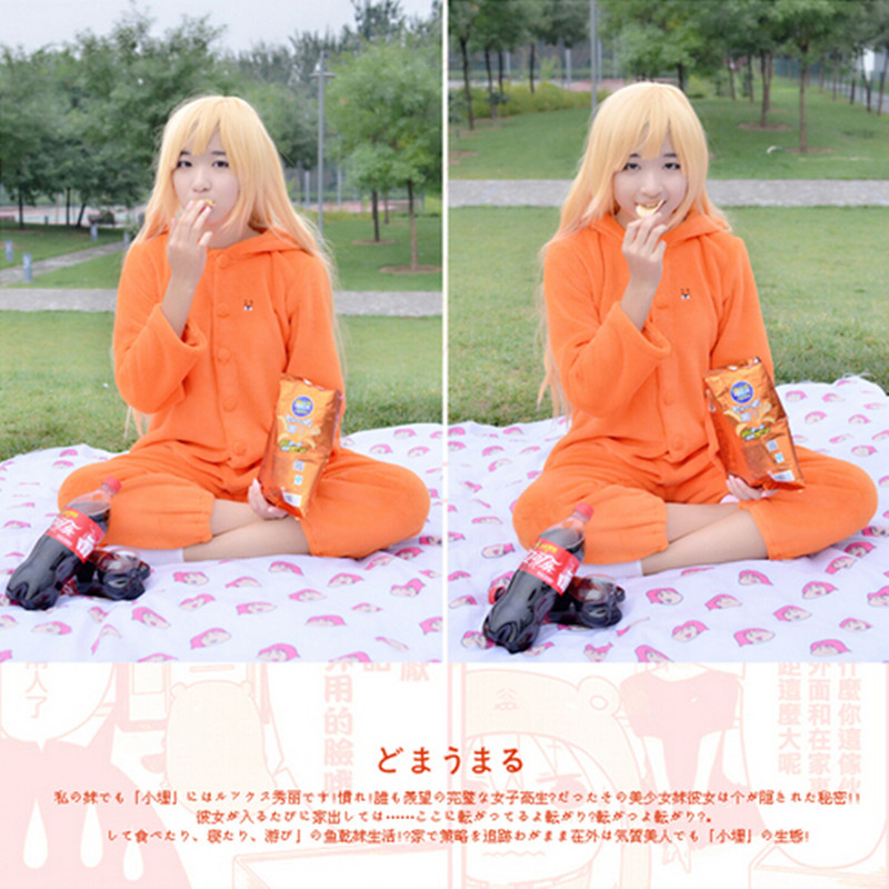 New Arrival Japanese Anime Himouto! Umaru-chan Halloween Costumes For Women Cosplay Onesie Winter Warm Fleece Pyjamas XH020
