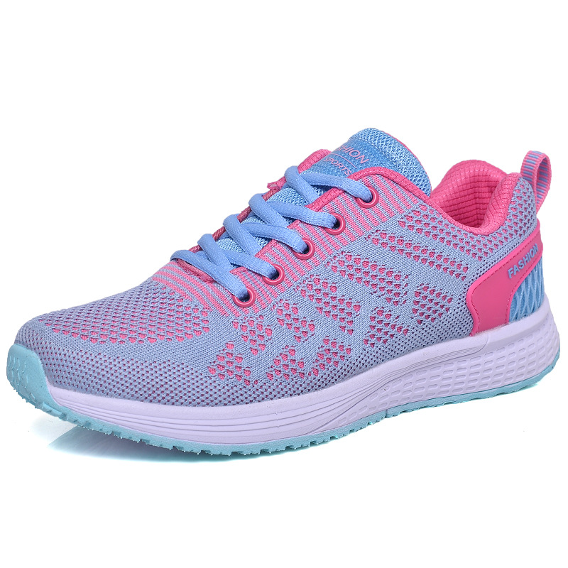 Cross-border flying shoes sneakers mesh shoes womens shoes outdoor shoes breathable wild students lightweight running s ...