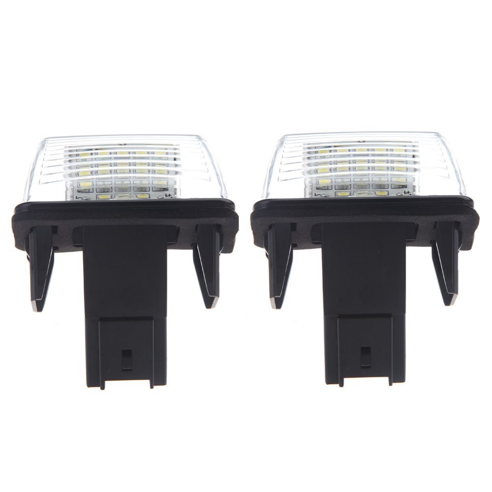 2pcs SMD LED Placa Matricula Coche Lampara for Peugeot 206 207 306 307 406 407 for Citroen C3 led glove box light for peugeot 206 207 306 406 307 406 407 607 806 308 3008 auto led interior bulb 12v led glove box lamp
