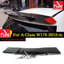 W176 Revozport Rear Roof Spoiler Tail Wing AER Style Carbon Fiber For A180 A200 A250 A45 AMG 2012-18