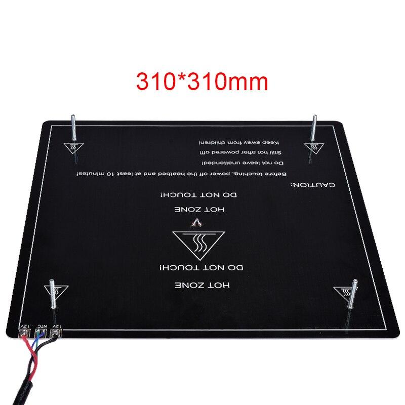 3D Printer Ultrabase Platform Heated Bed Build Surface Glass Plate Hot Bed 310/220MM Printer MK2 MK3 Hot Bed Sticker For Ender-3