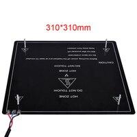 3D Printer Platform Heated Bed Build Surface Glass Plate Heatbed 310/220MM To 3D Printer MK2 MK3 Hot Bed Reprap Heatbed Sticker