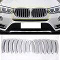 14 шт.  передняя крышка для гриля  отделка ABS хромированные Блестки для BMW X3 f25 2011-2017  автомобильные аксессуары  новейшие