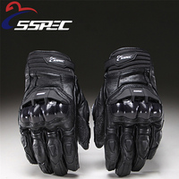 Motorcycle Gloves Mens Luva Moto Vintage Leather Motorbike Gloves Guantes Moto Cuero Summer Winter Hard Shell Protection Racing