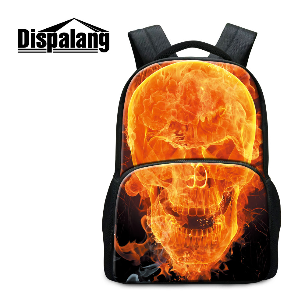 Dispalang 2017 Hot Sale Mochilas Masculina Personality Skull Printing Backpack For College Street Punk Lovers Canvas School Bags