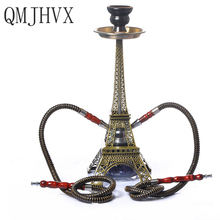 Paris Tower Hookah Double Tube Set Hookah Shisha Narguile Charcoal Tig