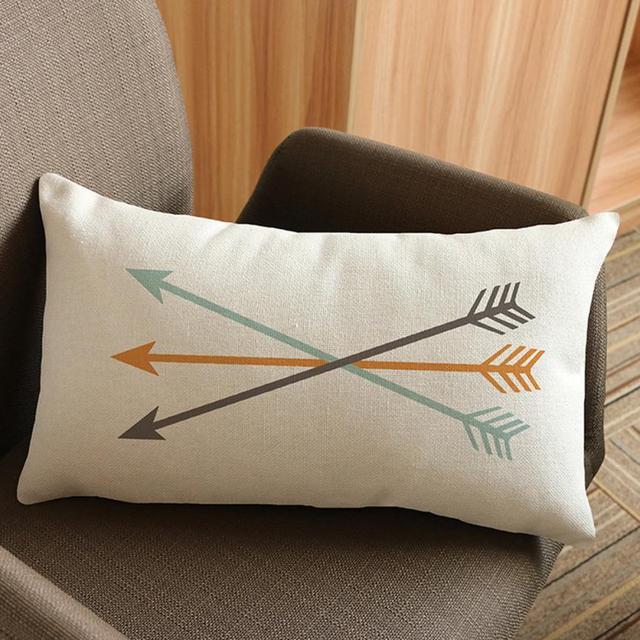 30x50 cm Rettangolo Freccia Stampa Home Decor Pillow Case cuscino per Divano Let