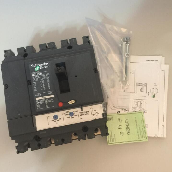 Schneider molded case circuit breaker NSX series plastic case switch NSX250N NSX-250N 4P 200A 250A molded case circuit breaker mccb air switch dz20y 400 3300 315a 3p variety of current optional