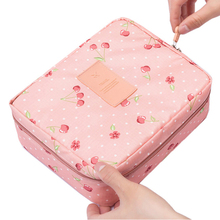 Neceser Rushed Floral Nylon Zipper New Women Makeup bag Cosmetic bag Case Make Up Organizer Toiletry Storage Travel Wash pouch