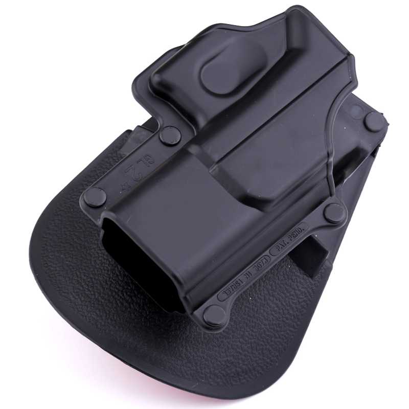 2018 Tactical Right Hand Belt Loop Paddle Platform Pistol Holster Pouch Case Protection For Glock 17 19 22 23 31 32 34 35