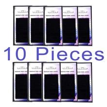 GLESUM  10cases set, high-quality mink eyelash extension,fake extension,individual eyelashes,nature eyelashes