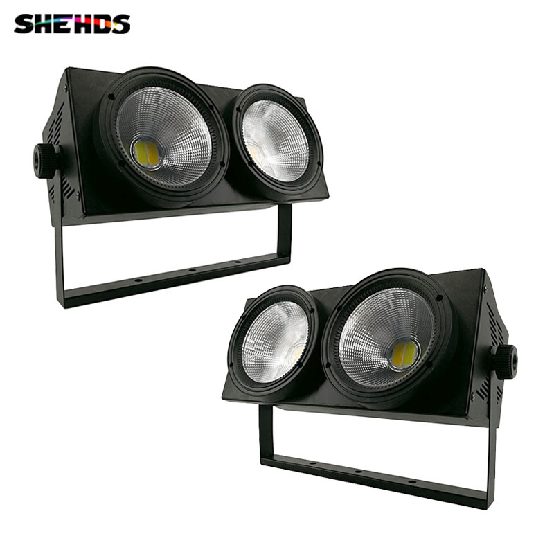 2 Pcs/lot  2eyes 2x100W HOT LED COB Light DMX Stage Lighting Effect Led Blinder Light Cool White and Warm White High Power show plaza light stage blinder auditoria light ww plus cw 2in1 cob lamp 200w spliced type for stage