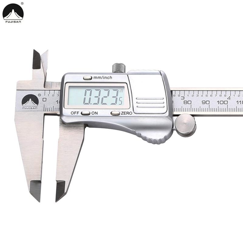 FUJISAN Digital Caliper 0-200mm/0.01mm Stainless Steel Metric/Inch Electronic Vernier Calipers Gauge Measuring Tools цена