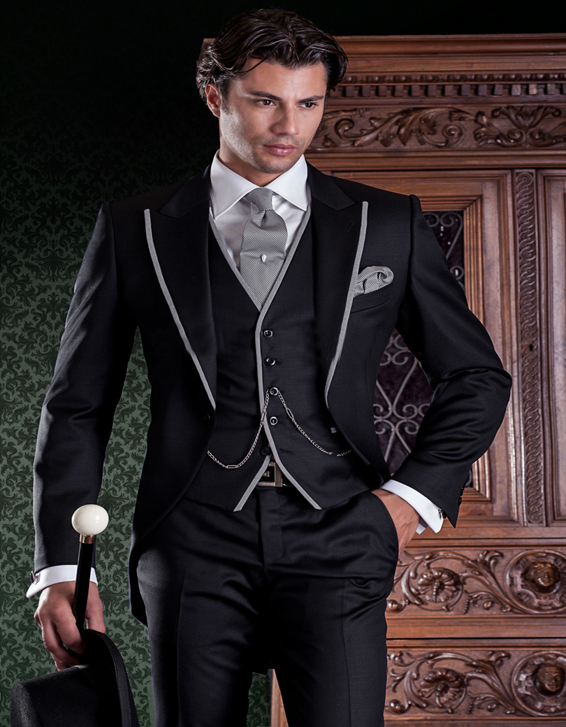 Popular Mens Grey Suit with Black Trim-Buy Cheap Mens Grey Suit ...