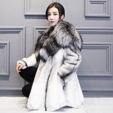 Woman's Fur Coat Mink Coat Long Section Full Pelt Double-Faced Fur Coat White Color  GSJ074
