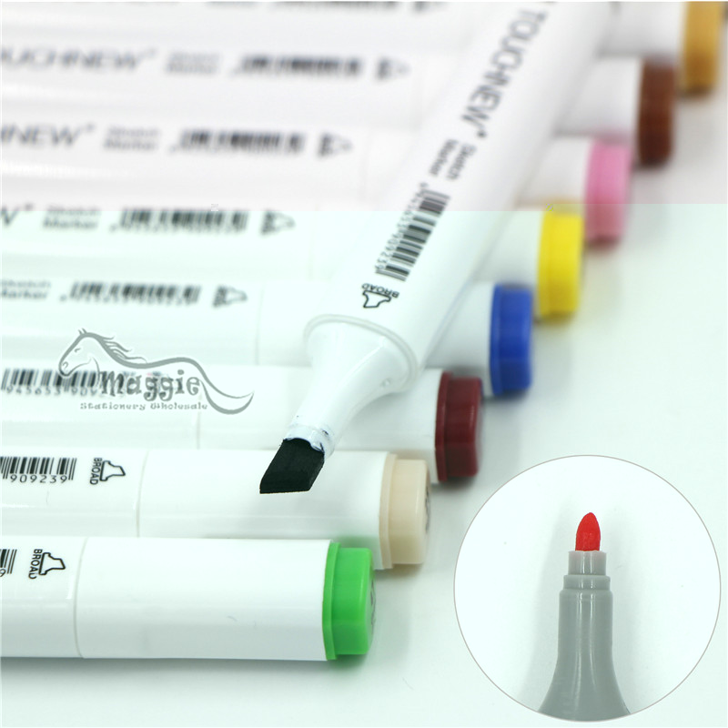 TOUCHNEW Sketch Markers 168 Colors Alcohol Based Double-ended Permanent Marker Art Marker- 80/Set with Pen Case Marcadores touchnew 30 40 60 80 colors art markers alcohol based markers drawing pen set manga dual headed art sketch marker design pens