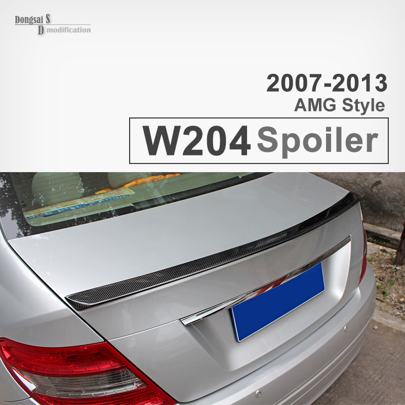 Mercedes W204 AMG-Style Carbon Fiber Spoiler, Trunk Tail Rear Car Wing for Mercedes-Benz 2007-2013 C Class W204 AMG Spoiler yandex mercedes x156 bumper canards carbon fiber splitter lip for benz gla class x156 with amg package 2015 present