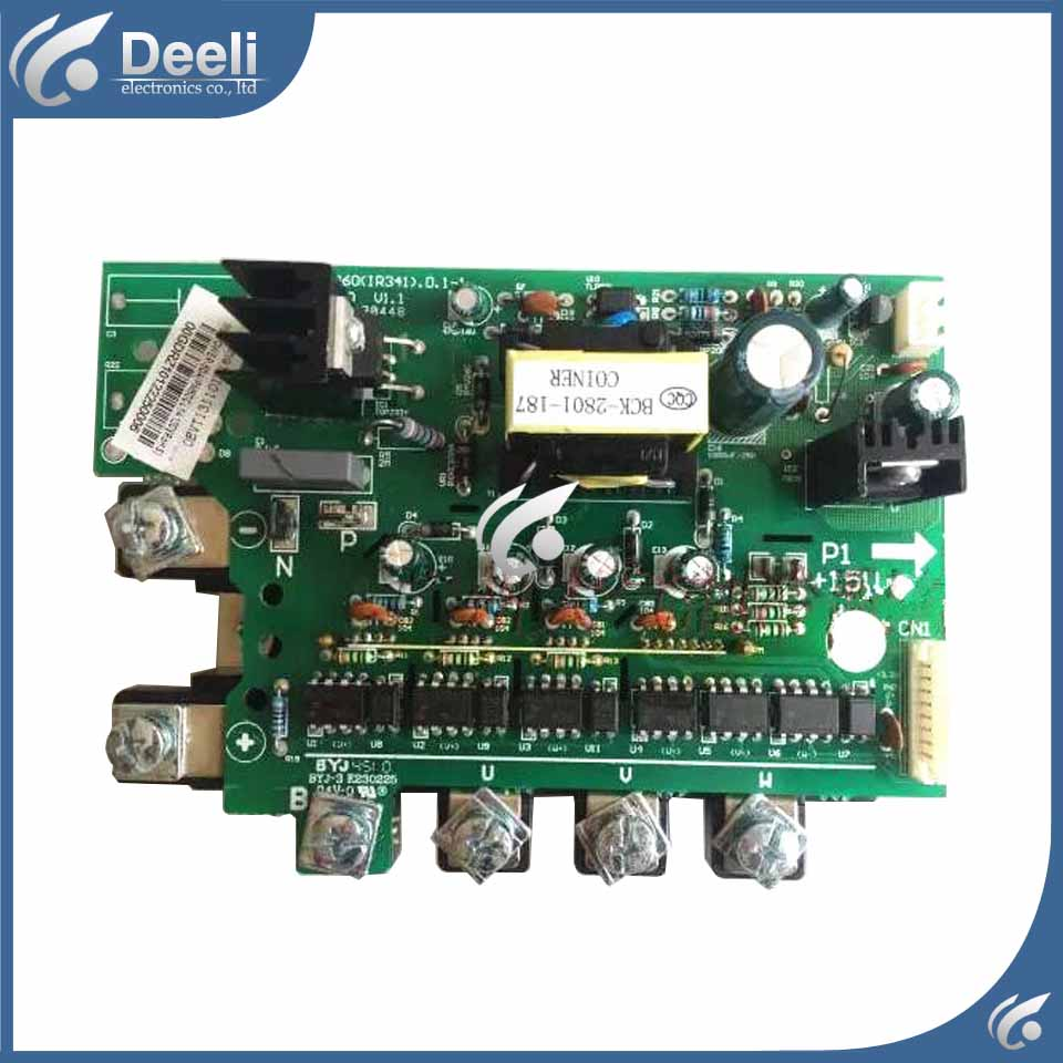 95% new for Air conditioning computer board ME-POWER-50A(PM50CL1A120)  PC board wire universal board computer board six lines 0040400256 0040400257 used disassemble
