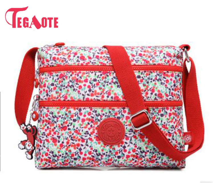 TEGAOTE Small Shoulder Bags Female Solid Floral Bags Handbags Women Famous Flap Mini Nylon Beach Crossbody Bag Sac A Main