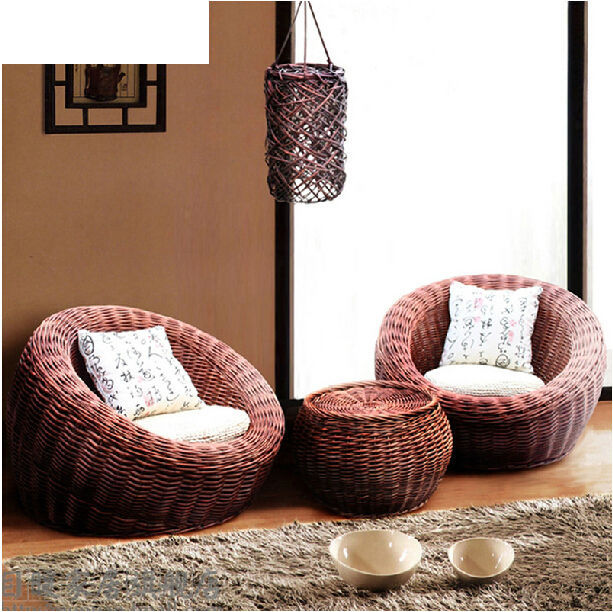 Us 1000 0 Handmade Dining Table Modern Luxury Bamboo Chair Corner Couch Leisure Lazy Balcony Sofa Garden Rattan Furniture Outdoor Wicker On