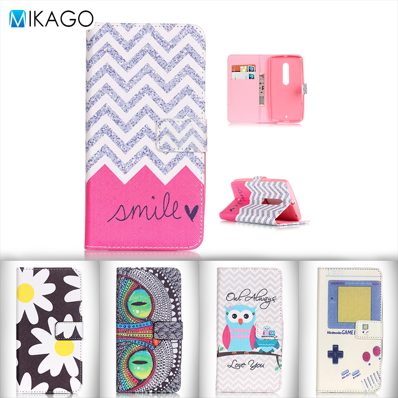 Painted Pattern PU Leather 5.5for Motorola MOTO X PLAY Case For Motorola MOTO X PLAY Cell Phone Cover Case