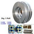 1 kg 1 rollo 10mm chapados en níquel de correa de acero de 18650 batería de níquel de la batería de litio de la pieza de conexión para soldadura níquel