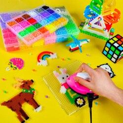 24 cores crianças diy contas para 3d animal/desenhos animados blocos/crianças kindergarden escola arte artesanato 3d grânulos brinquedos com ferro, navio livre