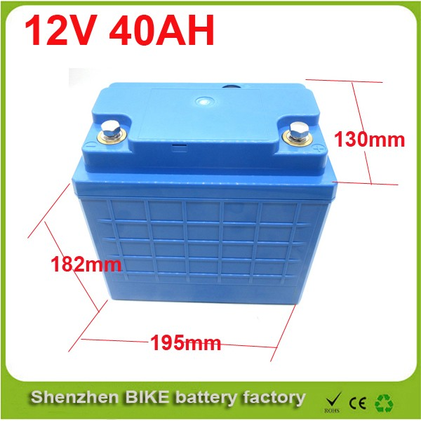 Free shipping   Golfcart, E-bike deep cycle 12v 40ah lithium ion lifepo4 battery pack 12V Lifepo4 Electric Bicycle Battery free customs taxes and shipping solar battery lifepo4 battery lithium ion battery pack 12v 40ah