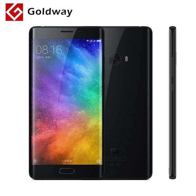 """Оригинал Сяо Mi Note 2 Мобильный телефон Dual 3D изогнутые стеклянные Snapdragon 821 4 ГБ Оперативная память 64 ГБ Встроенная память 5.7 """"22.56MP Камера гибкие Дисплей"""