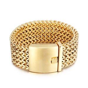 Image 5 - TrustyLan 30 MILLIMETRI di Larghezza 22 CENTIMETRI di Lunghezza Braccialetto degli uomini Non Tramonterà Mai di Colore Oro In Acciaio Inox di Spessore Braccialetto Uomini Braccialetti gioielli Bracciale