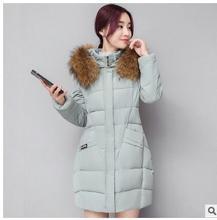 2017 зима новый большой размер женщин мода Корейской версии тело роскоши большой воротник воротник длинные хлопок женщины зима jacke