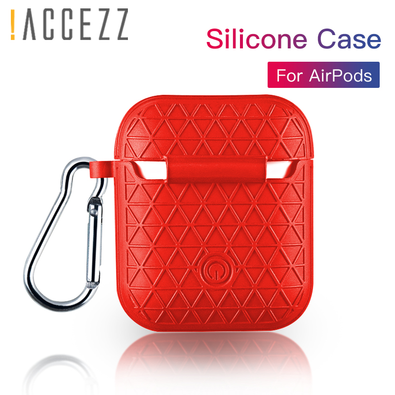 ACCEZZ For Apple Airpods Wireless Earphones Bluetooth Charge Case Silicone Mesh Skid Headphone Charging Cover Accessories Box in Earphone Accessories from Consumer Electronics
