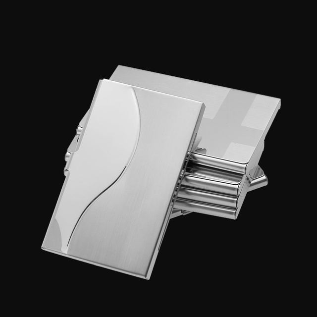 fashion stainless steel business id credit card holder men