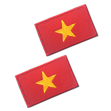 5PC Embroidery Badge Vietnamese National Flag Of Vietnam Military Embroidered Badges Tactical Patch For Outdoor Clothing Cap Bag