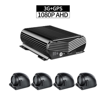 4CH D1 HDD Car Mobile Dvr With 3G GPS Function Support 4Pcs Rear Waterproof Camra , Pc/Phone RealTime Video MDVR Platform Free
