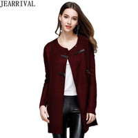 2018 New Fashion Cardigans Women Oversized Sweater Long Sleeve O Neck Knitted Jumper Female Cardigans Gilet Femme Manche Longue