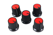 Newest !! 10 Pcs 6mm Shaft Hole Dia Plastic Threaded Knurled Potentiometer Red Knobs Caps(China)
