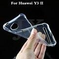JX 0.6 мм Для huawei y3 2 II Чехол Ультратонкий Прозрачный ТПУ мягкий Защитный Чехол Для Для huawei y 3 2 II сумки