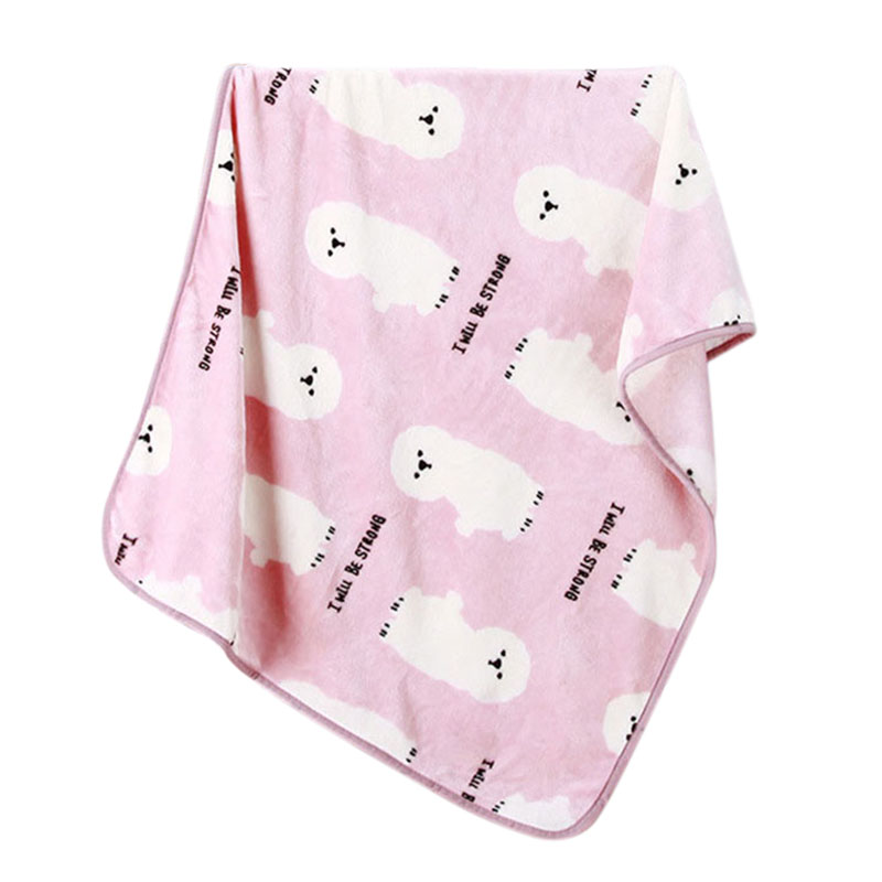 Baby Blanket Swaddle Cartoon Bear Cute Bedding Swaddling Newborn Wrap Children Blanket Baby Room Decoration Pink Blue Grey