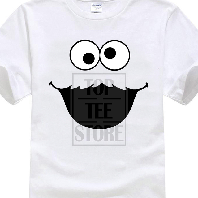 82ab0dda 2017 Latest Sesame Street Cookie Monster T Shirt Elmo Early Bird Grover  Ernie Oscar Printed T Shirt O-Neck Cool Tops