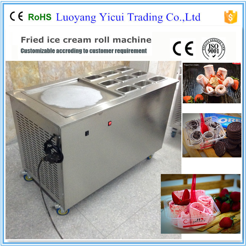 Delicious Taste Fried Ice Cream Roll Machine