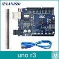 CH340G LANDZO 2017 alta qualidade UNO R3 MEGA328P para Arduino UNO R3 Compatível versão Melhorada, especialista em versão com USB CABO