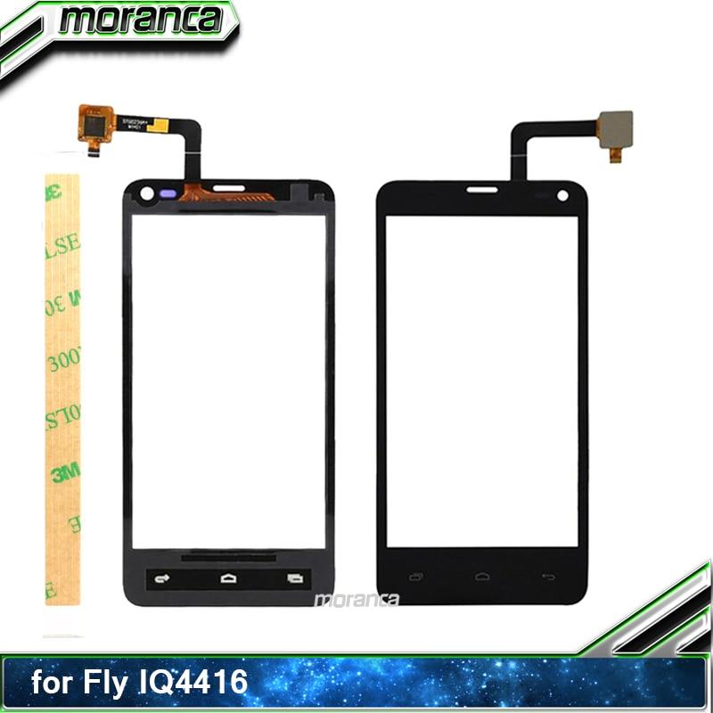 4.5 Phone Touch for Fly IQ4416 ERA Life 5 IQ 4416 Touch Screen Digitizer Sensor Touchscreen Panel Front Glass Lens +3M Sticker