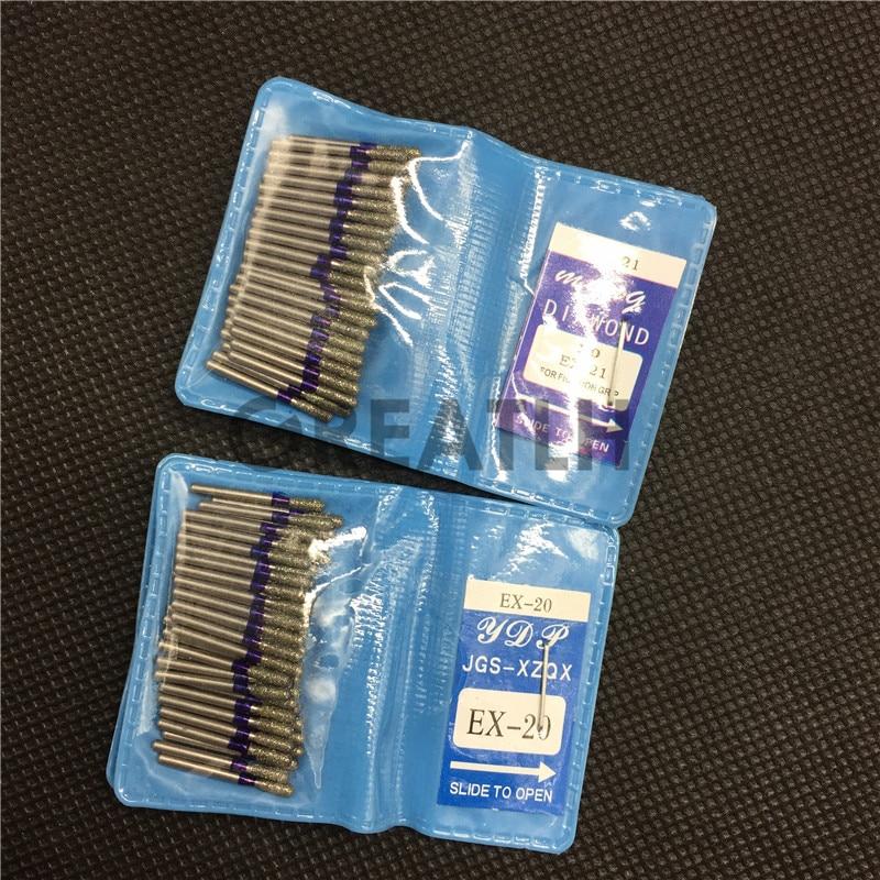 EX-20 EX-21 Dental Diamond FG High Speed Burs For Polishing Smoothing  Tooth