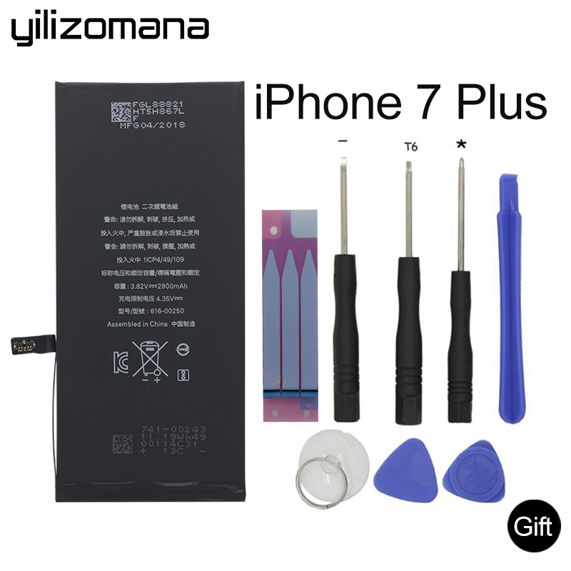 YILIZOMANA Replacement Phone Battery For Apple Iphone 7 Plus Real Capacity 2900mah Free Tools