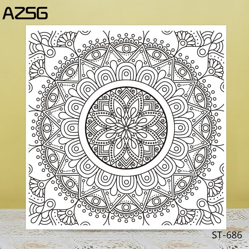 AZSG комплекс цветок лотоса Стиль ясно, штампы/уплотнения для DIY Скрапбукинг/карты/альбом декоративные штамп силиконовый ремесла