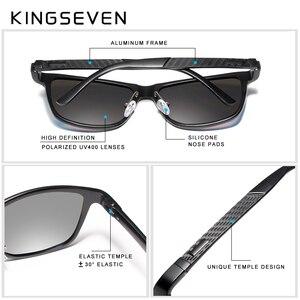 Image 4 - KINGSEVEN Men's Polarized Sunglasses Aluminum Sun Glasses Driving Square Shades Oculos masculino Male Eyewear Goggle
