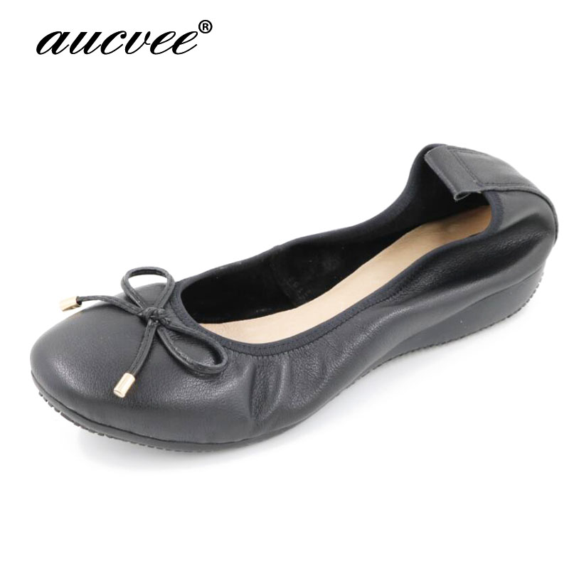 aucvee Brand Genuine Leather Flats Stretch Jazz Latin Dance Shoes Salsa For Women Jazz Ballet Shoes Teachers's Excercise Shoe