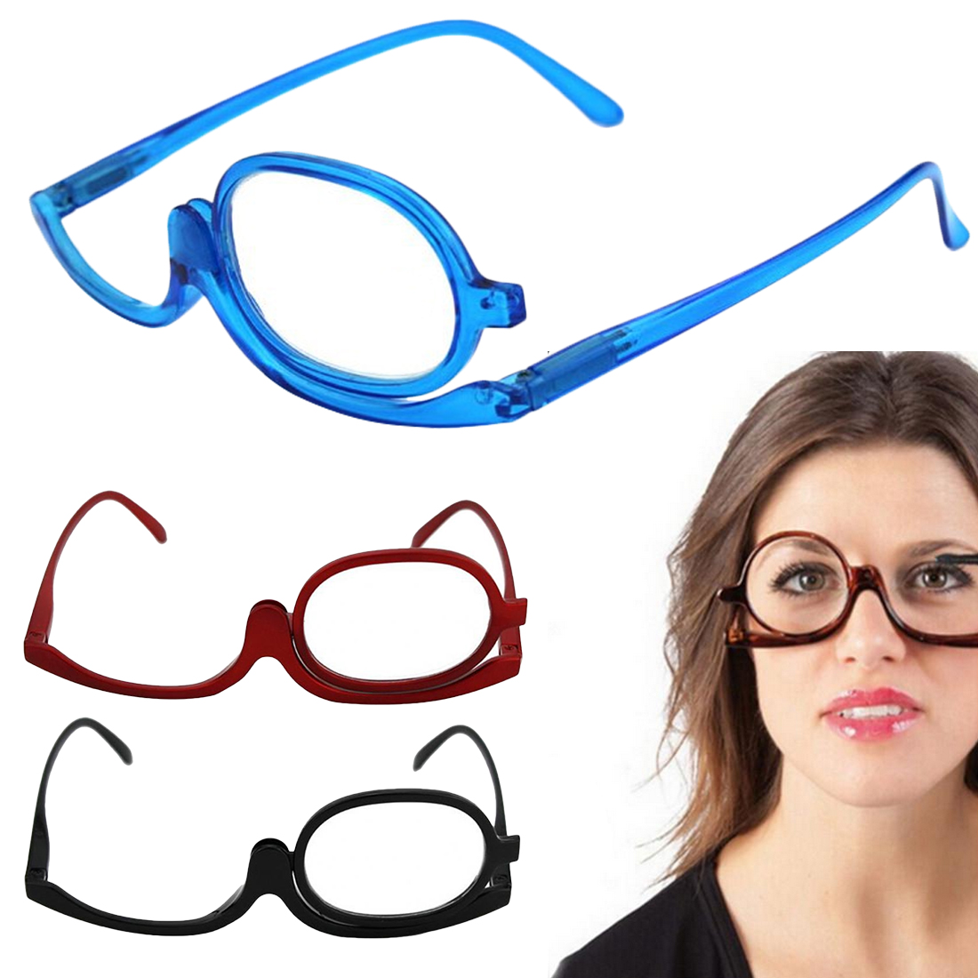 2019 New 3 Colors Reading Glass Magnifying Glasses Makeup Folding Eyeglasses Cosmetic General