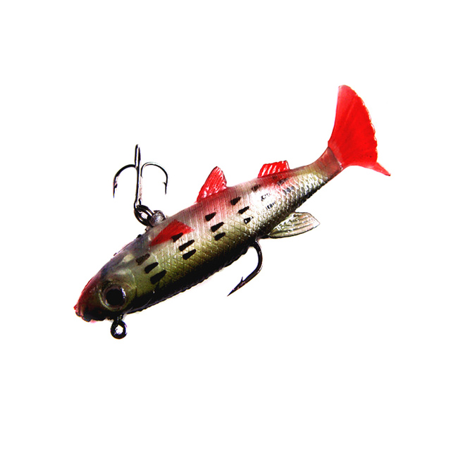 Lifelike Soft Bait with 2 Hooks and T-Tail – 8.5cm – 3.3inch